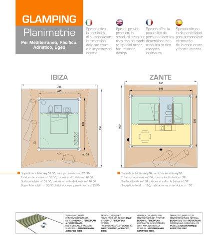 GLAMPING - Planimetrie