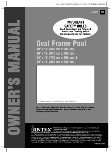 OVAL FRAME POOLS