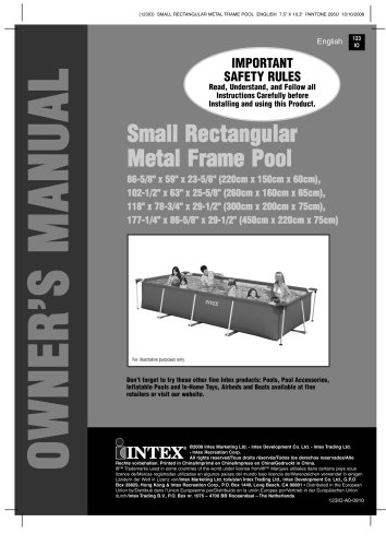 SMALL RECTANGULAR METAL FRAME POOLS