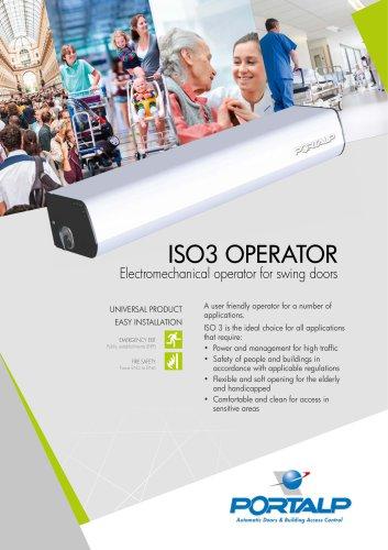 ISO 3 electromechanical operator for swing doors
