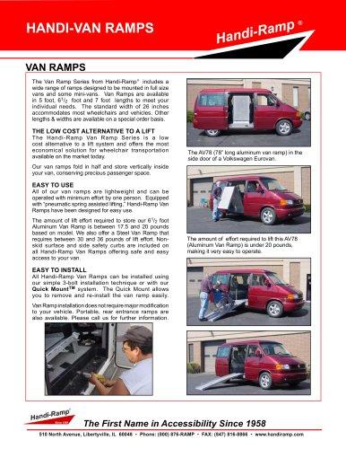 VAN RAMPS - Handi-Ramp - PDF Catalogs | Documentation