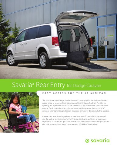 Savaria Rear Entry Van Conversions