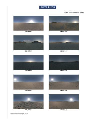 DOSCH HDRI: Desert & Dawn