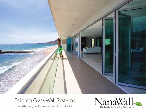 Folding glass wall systems