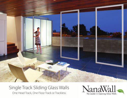 Single Track Sliding Glass Walls