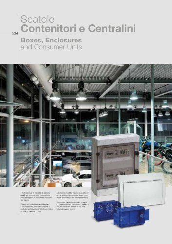 2018/19 General Catalogue - Boxes, Enclosures and Consumer Units