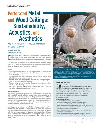 Perforated Metal and Wood Ceilings