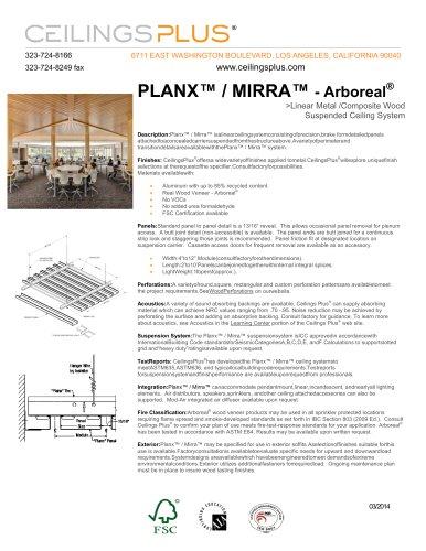 PLANX? / MIRRA? - Arboreal®