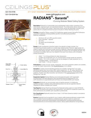 RADIANS®- Saranté