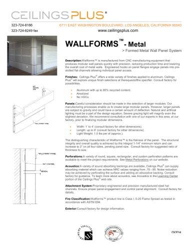 WALLFORMS?- Metal