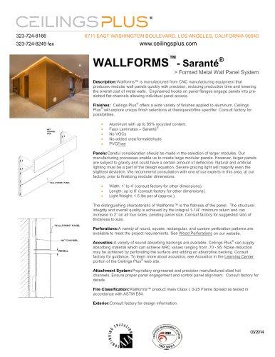 WALLFORMS?- Saranté®