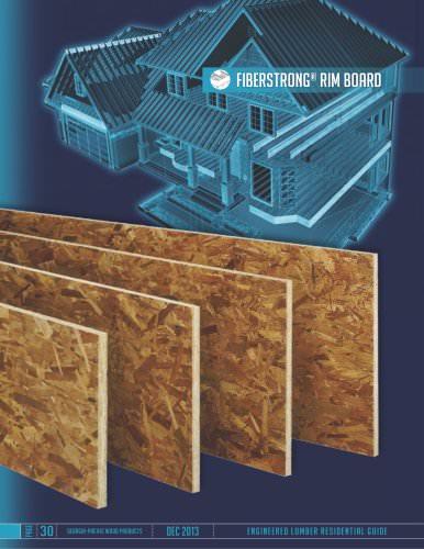 Engineered Lumber Product Guide - FiberStrong Rim Board