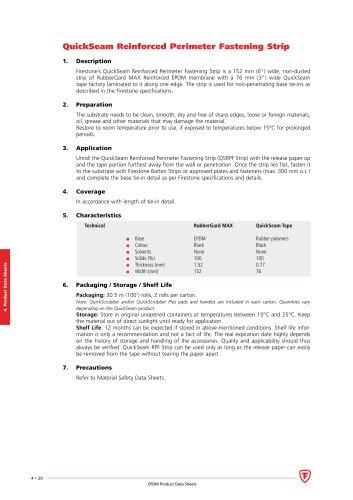 QuickSeam™ Reinforced Perimeter Fastening Strip (RPFS)