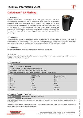 QuickSeam™ SA Flashing