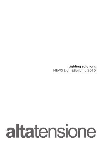Altatensione Lighting Solutions News 2010
