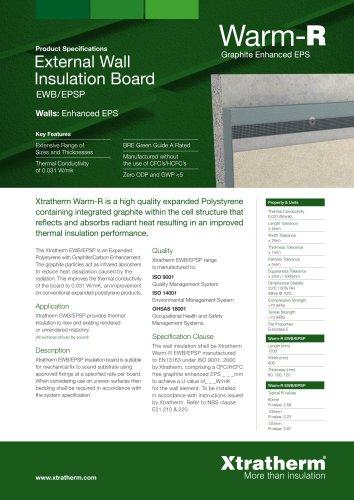 Warm-R External Wall Insulation Board [EWB/EPSP]
