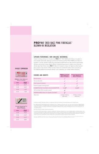 PROPINK ® (RED BAG) PINK FIBERGLAS TM BLOWNIN INSULATION