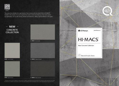 HI-MACS New Concrete Collection