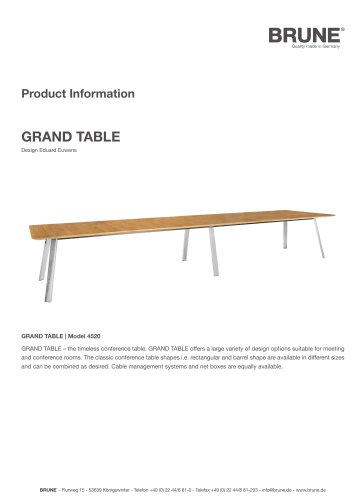 GRAND TABLE Model 4520