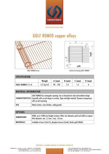 GOLF ROMEO copper alloys
