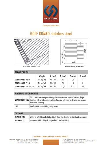 GOLF ROMEO stainless steel