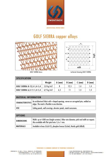 GOLF SIERRA copper alloys