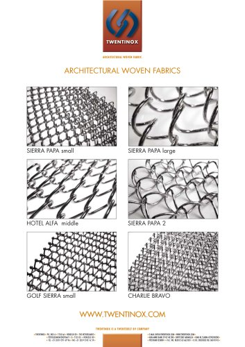 Twentinox architectural woven fabric product product summary