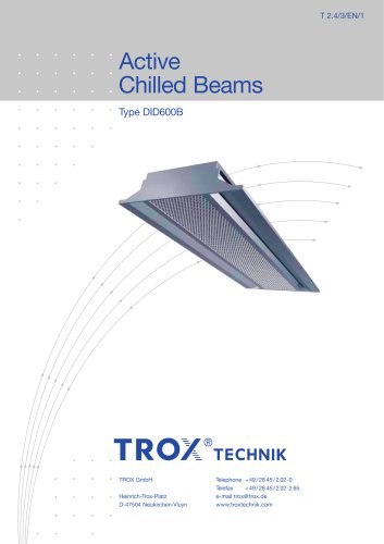 Active Chilled Beams Type DID600B