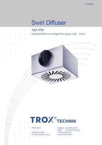 Swirl Diffuser Type VDW