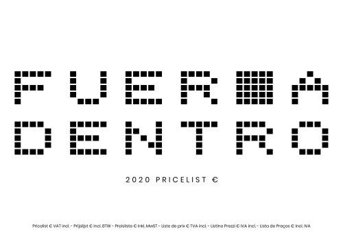 Pricelist 2020