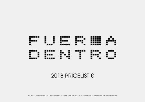 Pricelist EURO 2018