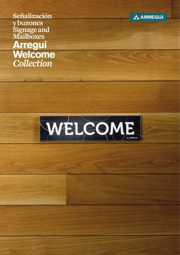 Signage and mailboxes Arregui Welcome Collection