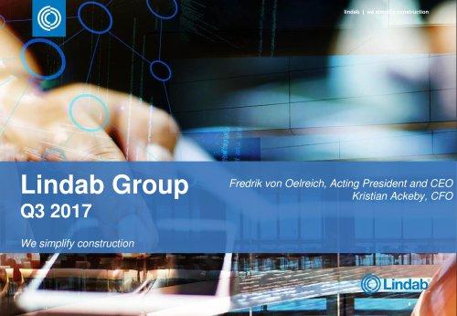Lindab Group Q3 2017