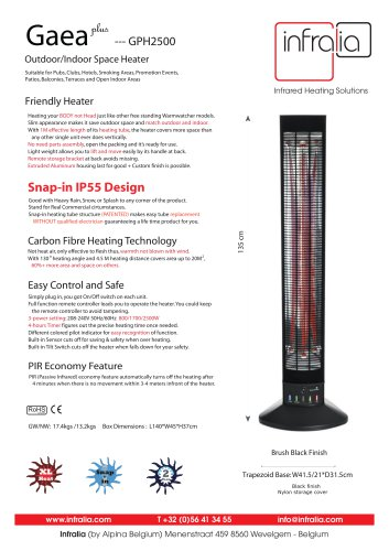 Gaea+ Infrared Space Heater