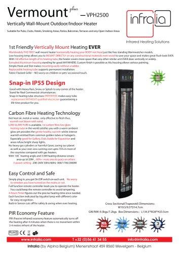 Vermount+ Infrared Space Heater