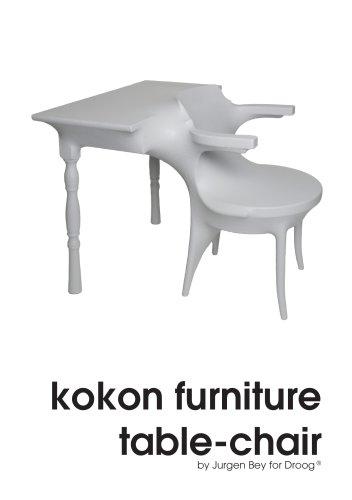 Kokon furniture - table-chair