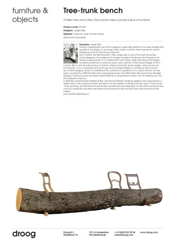 Tearsheet Tree-trunk Bench