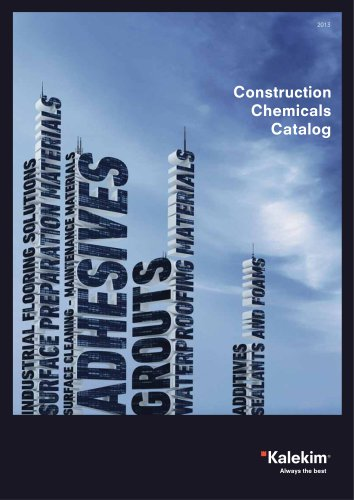 Construction Chemical Catalog