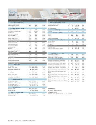 TA Special Order Price List Jan 2020