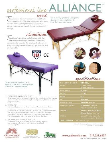 Alliance Aluminum Massage Table-Professional Package