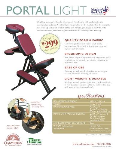 Portal Light Massage Chair Flyer