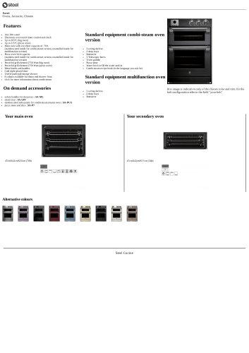 Ascot Ovens, Antracite, Chrome