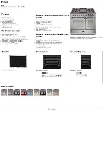 Ascot Range Cookers, Inox, Chrome , A10FF-5FI/FF