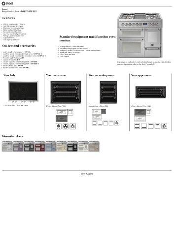 Genesi Range Cookers, Inox , G10FFF-5FI/ FFF
