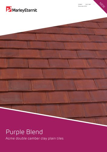 Purple Blend Acme double camber clay plain tiles