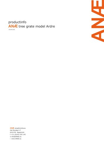 ANÆ tree grate model Ardre