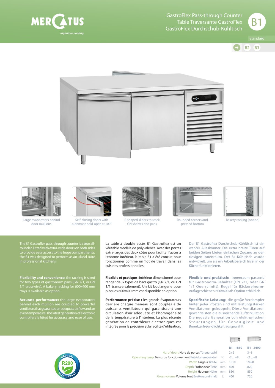 B1 Gastroflex P Through Counter 1 2 Pages