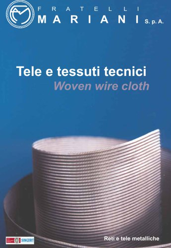 Woven wire cloth brochure