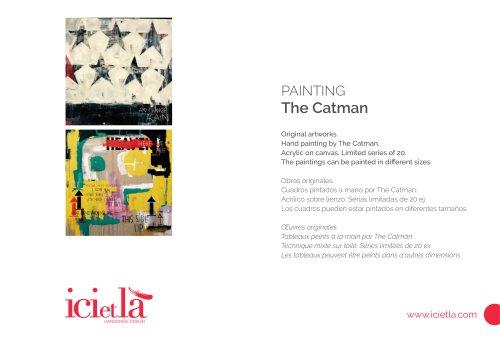 ICI ET LÀ  Paintings - The Catman