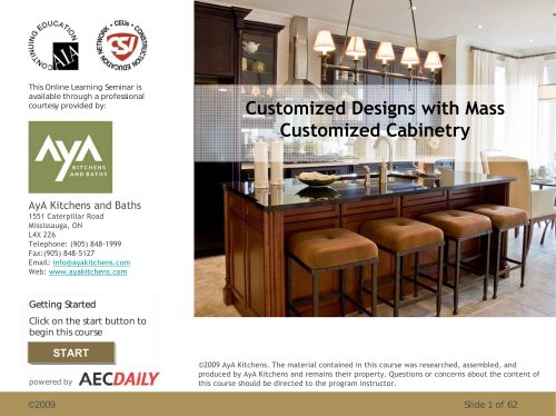 Customized Designs with Mass Customized Cabinetry